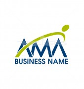 Creative Mountain Letter AMA Logo Template