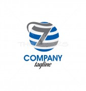 Letter Z Earth Circle, Professional Logo Template