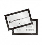 Light Gray Digital Background Black Border Business Card
