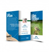 Bird Friendly Community Trifold Template