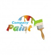 Paint Company Vector Logo Template