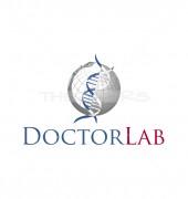 Globe & Medical Symbol Logo Template
