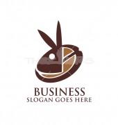 Bunny Coffee Seed Logo Template