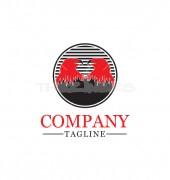 Twin Bird Logo Template