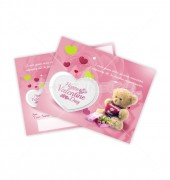 Valentine Love Postcard Template
