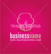 Cupcakes Food Cafe Shop Logo Template