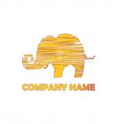 Elephant Embroidery Logo Template