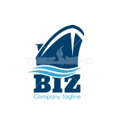 Shipping Company Automotive Logo Template