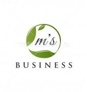 Green Leaf Premade Floral Logo Design