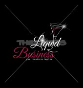 Liquid Drinks Business Elite Restaurant Logo Template