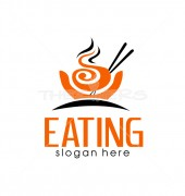 Eating Food Delicious Shop Logo Template