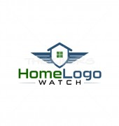 House Security Shield Protection Logo Template