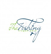 Fishing Pole Premade Logo Design