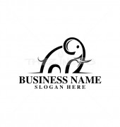 Elephant Creative Animal Logo Template