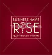 Rose Business Creative Floral Logo Template