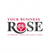 Rose Business Abstract Floral Logo Template