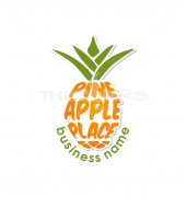 Pineapple Juice Fast Food Logo Template