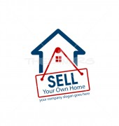 Sell Own House Premade Housing Services Logo design