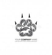 Claw, Paw Logo Template