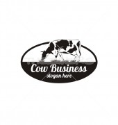 Cow Farming Production Logo Template