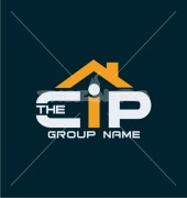 CIP Letter Estate Group Premade Housing Logo Vector