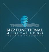 Medical Spine Solution Logo Template