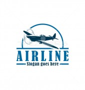 Airline Elegant Automotive Logo Template