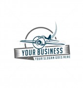 Airline Training Institute Prime Services Logo Template
