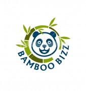 Bamboo With Panda Logo Design Template