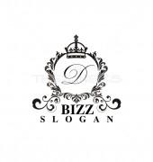 Letter D Creative Floral Vintage Logo Template