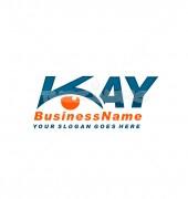 K Letter Eye Security Solutions Logo Outline