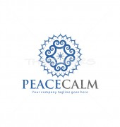 Peacecalm Floral Logo Template