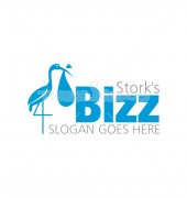 Standing Stork Bird Premade Logo Design