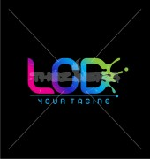 LCD Letter Spill Artifacts Premade Logo Symbol
