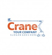 Building Crane Construction Logo Template
