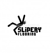 Slippery Flooring Product Logo Template
