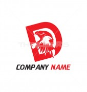 D Letter Eagle Logo Template
