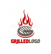 G Gas Stove Vector Logo Template