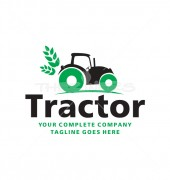 Farmers Tractor Elegant Automotive Logo Template