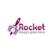 Education Rocket Book Child Education Logo Template