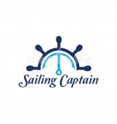 Boat Steering Repair Logo Template