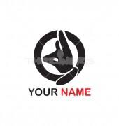 Q Letter Fox Logo Template