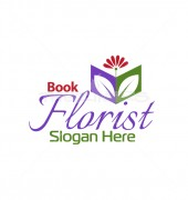 Florist Book Pre-made Floral Logo Template