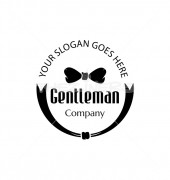 Gentleman Bow Tie Premade Product Logo Design