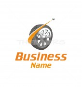 Auto Wheel Logo Template