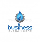 Drop-N-Tools Elegant Cleaning Services Logo Template