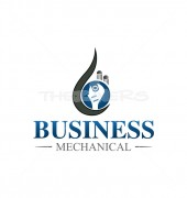 Mechanical Tools Premade Cleaning Services Logo Design