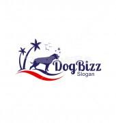 Dog At Beach Pet Care Logo Template