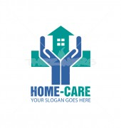 Home Care Housing Logo Template