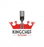 King Chef Food Restaurant Logo Template